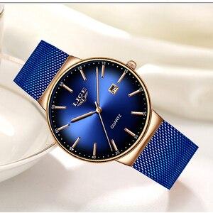 Image 1 - Часы наручные LIGE женские кварцевые, модные брендовые Роскошные спортивные водонепроницаемые полностью стальные
