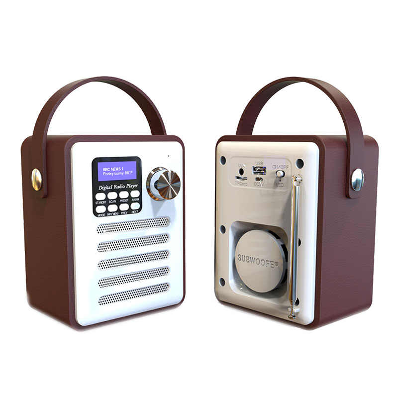 AMS-DAB/DAB + Tuner Radio Digital Receiver Bluetooth 5.0 Siaran FM Aux-In Mp3 Pemain Dukungan kartu TF Built-In Baterai