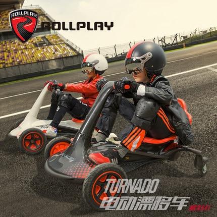 Rollplay Детский Электрический дрейфующий автомобиль электрический скутер четыре колеса Go kart взрослые игрушки Self балансировочное устройство