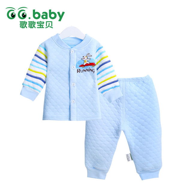 Stripe Winter Warm Baby Boy Infant Clothing Set Long Sleeve Cartoon Newborn Baby Boys Girl Clothes Set Baby Boy Sets Suits Girl