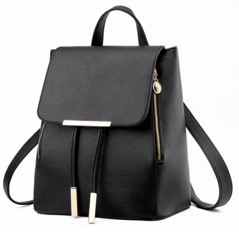 Backpack Women Pu Leather Female Backpacks Teenager School Bags 1