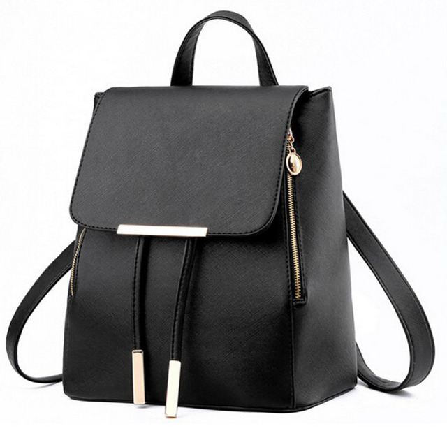 Women Pu Leather Female Backpacks 1