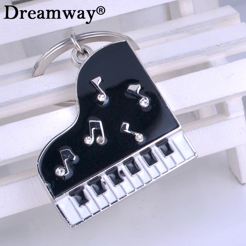 manufacturers selling keychain music novelty items gifts drill glue piano key button metal llaveros car key chains pendant
