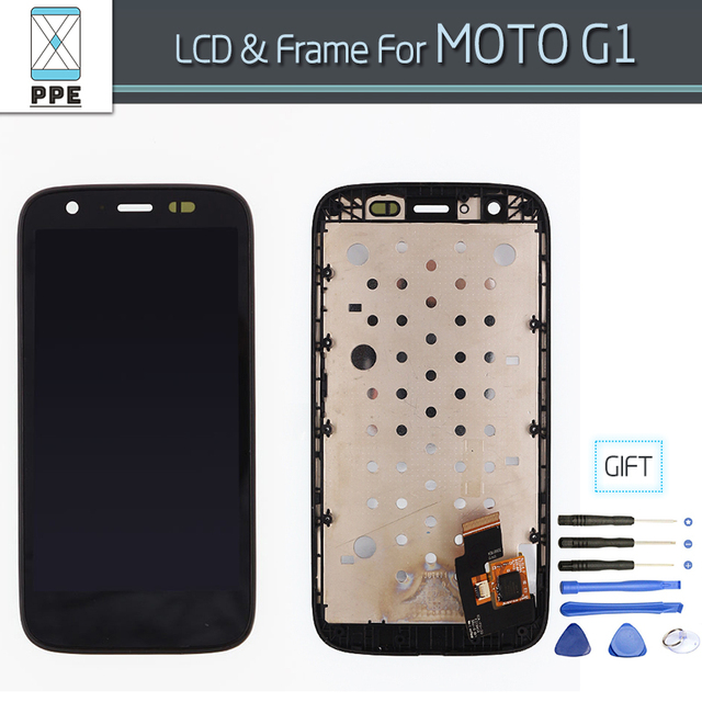 LCD Screen For Motorola MOTO G G1 XT1032 / XT1033 LCD Display Touch Screen Digitizer Assembly With frame Free Tools