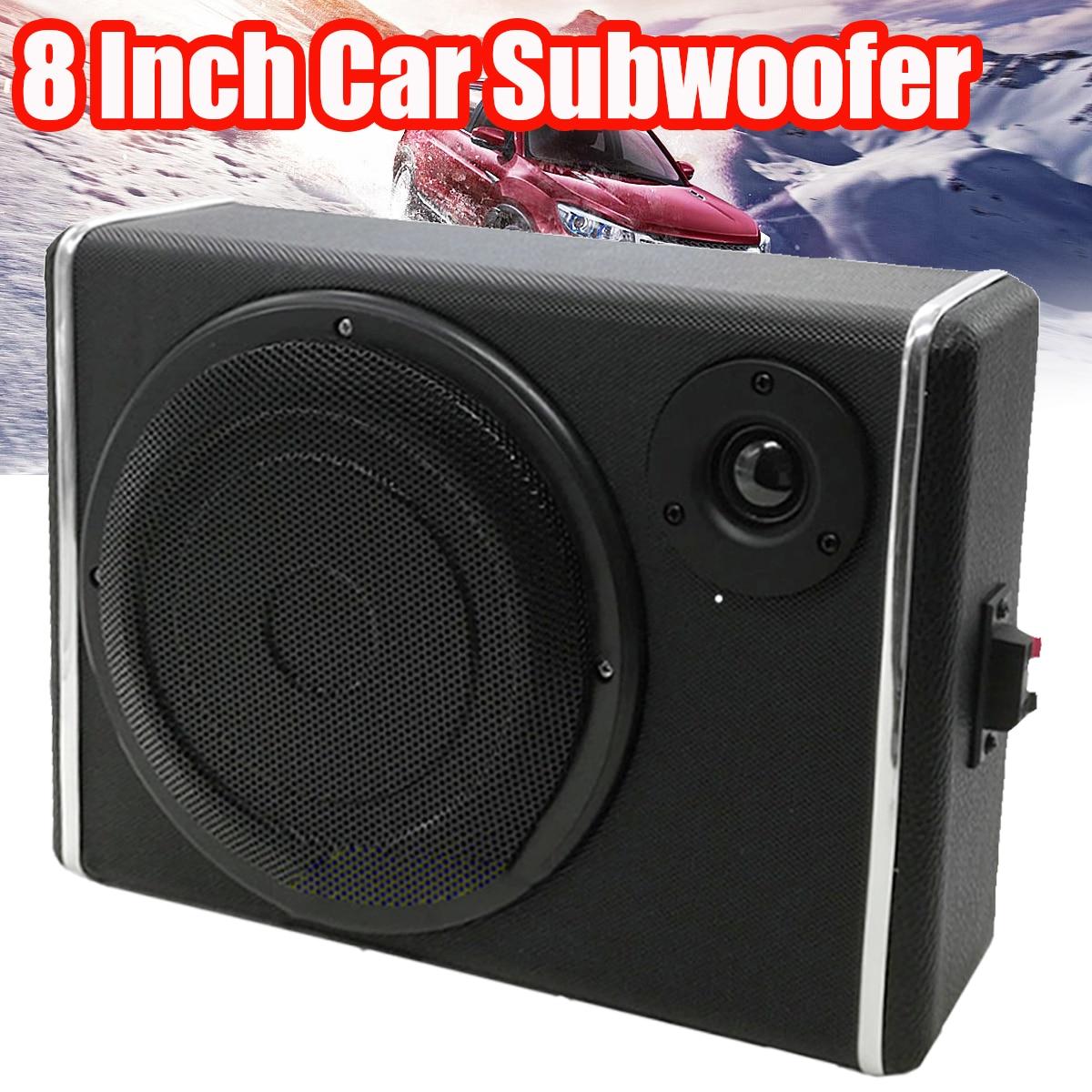 8 Inch Car Subwoofers Speaker Portable Auto Audio Loudspeaker Horn Car Stereo System Sound Subwoofer Speaker Car Sound ghxamp 3 inch 4ohm 30w midrange speaker car speaker mid human voice sound good loudspeaker for lg diy 2pcs