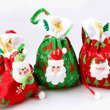 Christmas Decorations The New Santa Claus Gift Bags Christmas Candy Bags Christmas Gift Bags Free Shipping