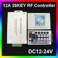 Frete grátis + 12 V 12A 28key LED Sem Fio RF LED RGB Controle Remoto
