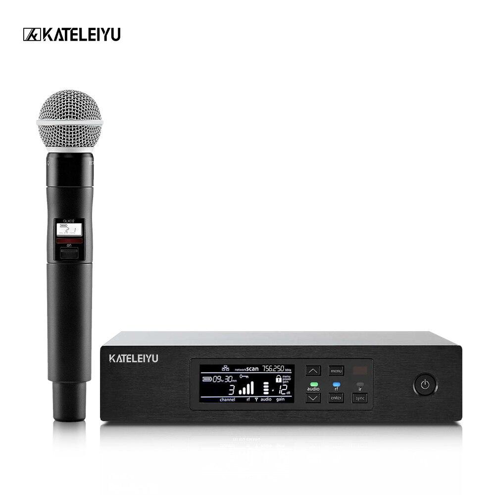 Профессиональная беспроводная QLXD4 микрофон караоке микрофон Студийный микрофон UHF этап певица performance high fidelity