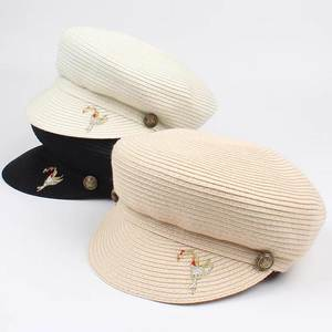 dbf81d187df JAMONT sun hat women flat straw summer vintage female Girl