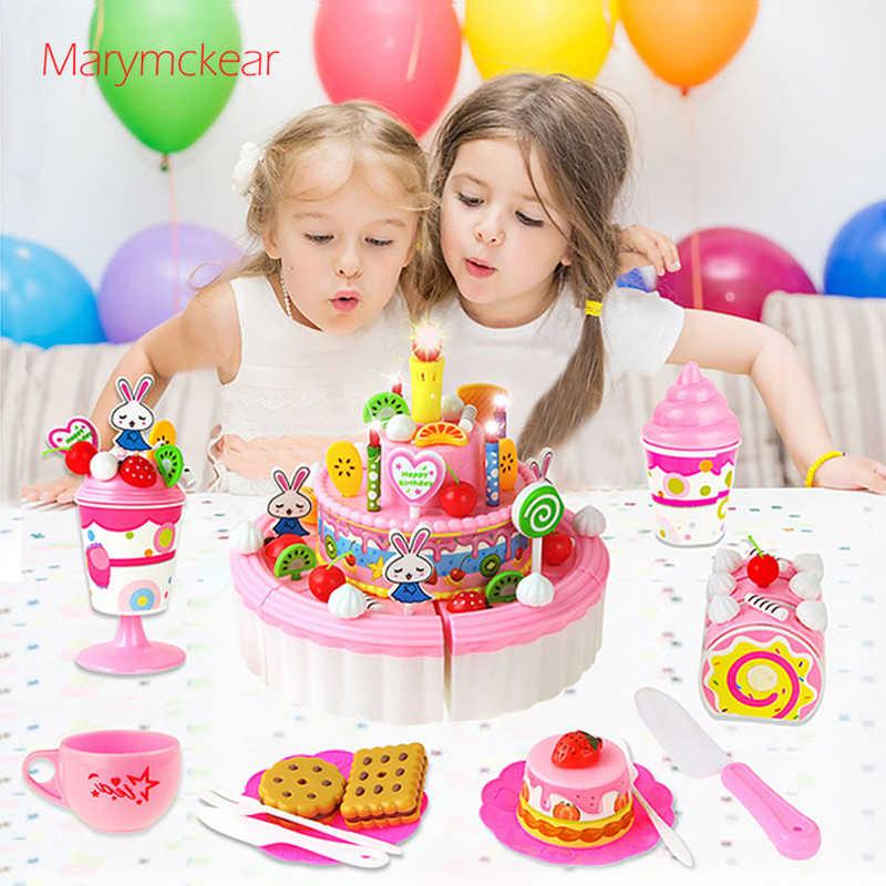 Tremendous Pink Pretend Birthday Cake Cuisine Enfant Kids Fake Food Girls Personalised Birthday Cards Fashionlily Jamesorg