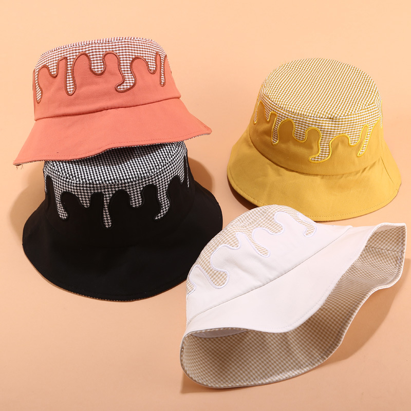 Korea Stitching Color Fisherman Hat Women Female Trend Basin Hat Summer Outdoor Sun Protection Visor Couple Casual Bucket Hat