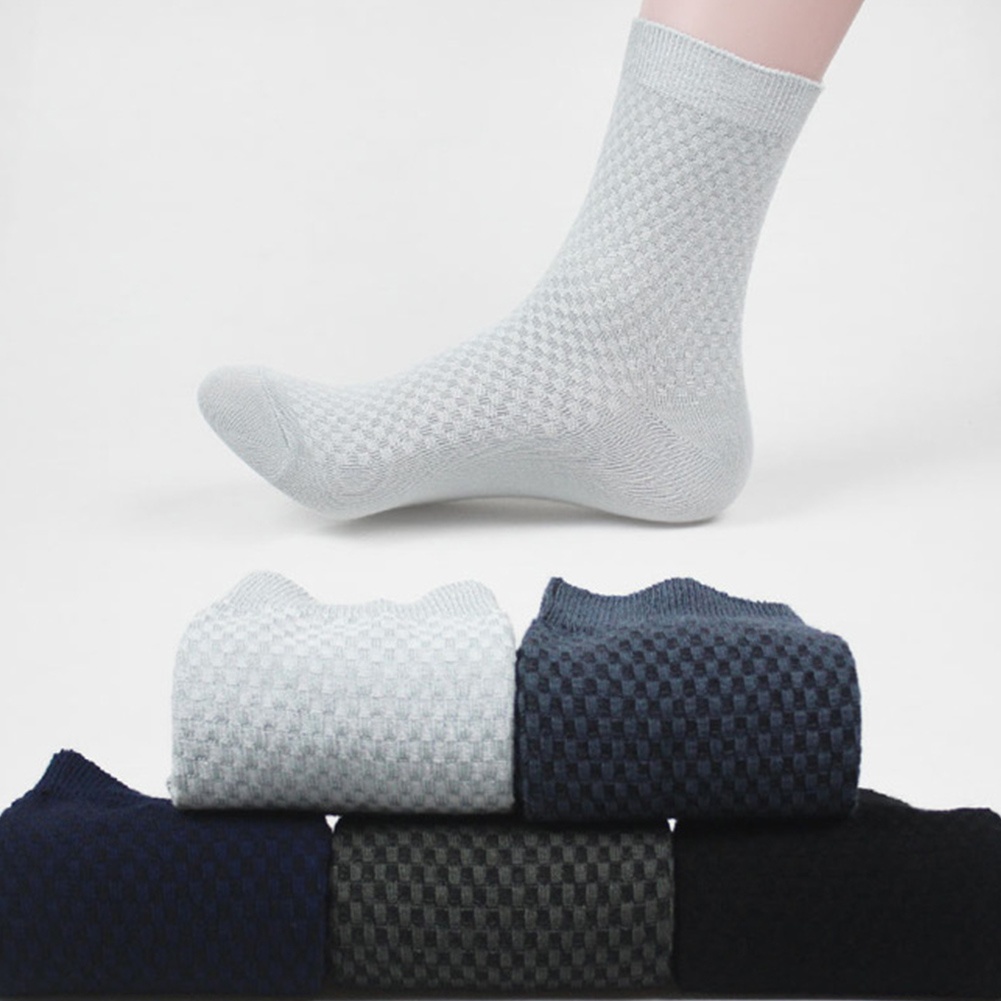 2019 New Hot Men Bamboo Fiber Socks Crew Brand New Casual Business Anti-Bacterial Deodorant Breatheable Man Long Sock Crew