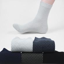 2019 New Hot Men Bamboo Fiber Socks Crew Brand Casual Business Anti-Bacterial Deodorant Breatheable Man Long Sock
