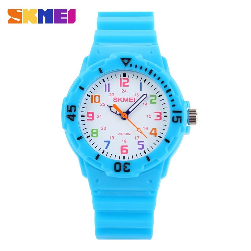 47d86a2528a Crianças relógio de quartzo senhora relógios desportivos skmei moda casual  ladies relógios de pulso geléia relógio dos miúdos meninas estudantes  relógios de ...