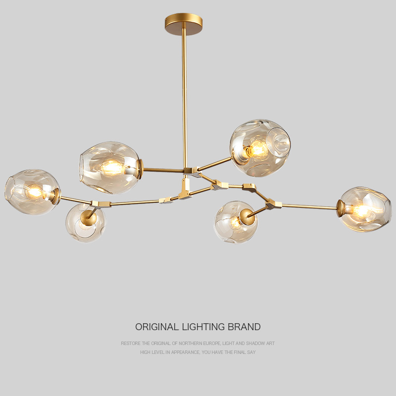 купить Glass Shade Retro Lindsey adelman Pendant Lamp Fixtures Vintage Loft Industrial Pendant Lights Black Gold Bar Stair Dining Room недорого
