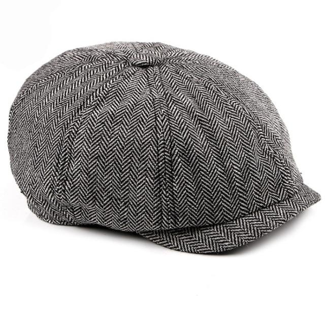 HT1352 Western Octagonal Newsboy Cap Vintage Spring Autumn Women Men Beret  Cap Classic Fashion Striped Flat Beret Hats for Women 5d28dd0446c2