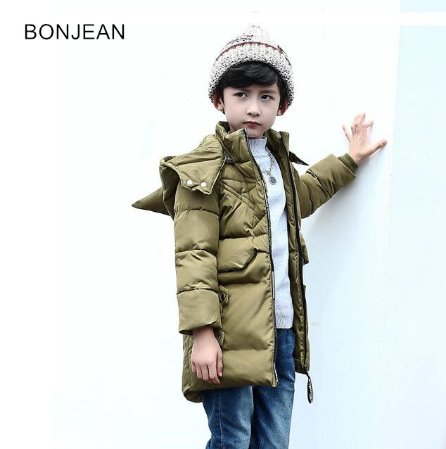2017 Winter children 's clothing down jacket children Korean version hooded zipper  boy down coat outwear