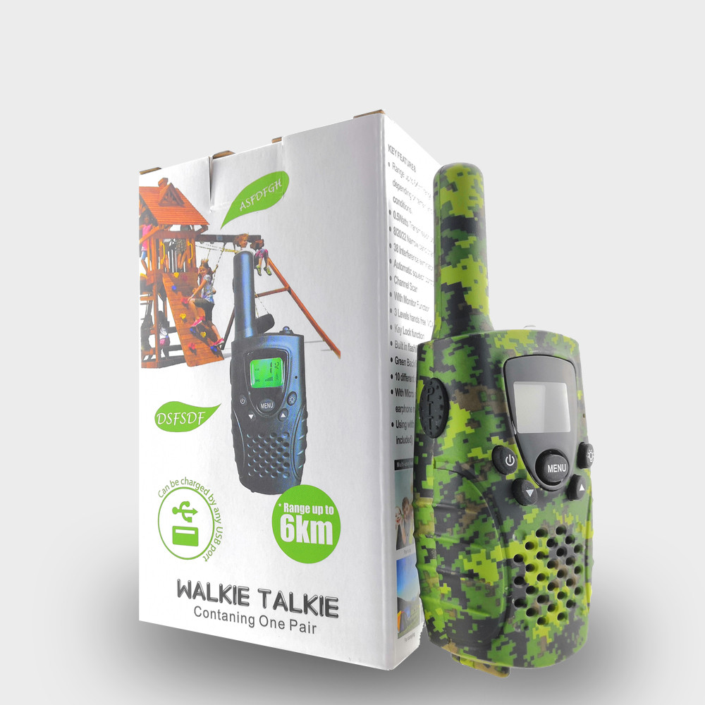 Image 5 - Portable Mini Kids Walkie Talkie PMR446MHZ 8/22CH Two way Radio LCD Display Fashlight with USB Charing jack for Children Gifts-in Walkie Talkie from Cellphones & Telecommunications