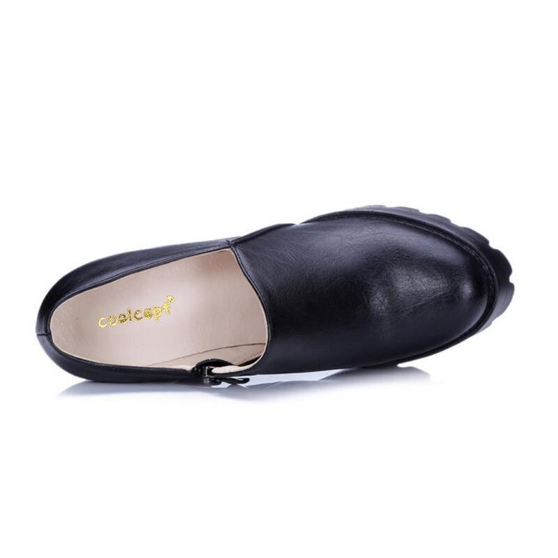 Qualité Beige Talons Pompes Coolcept Marque Carrés De L'eau 32 Mode Chaussures Femelle Style Taille P22769 Femmes À rose Preuve noir gris 42 Printemps Hauts IRwwOqxC
