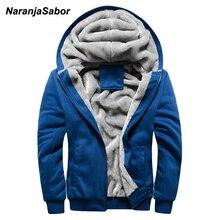 NaranjaSabor 2017 Winter Thicken Men's Hoodies Warm Mens Jacket Hooded Coats Sweatshirts Male Tracksuit Mens Brand Clothing 4XL