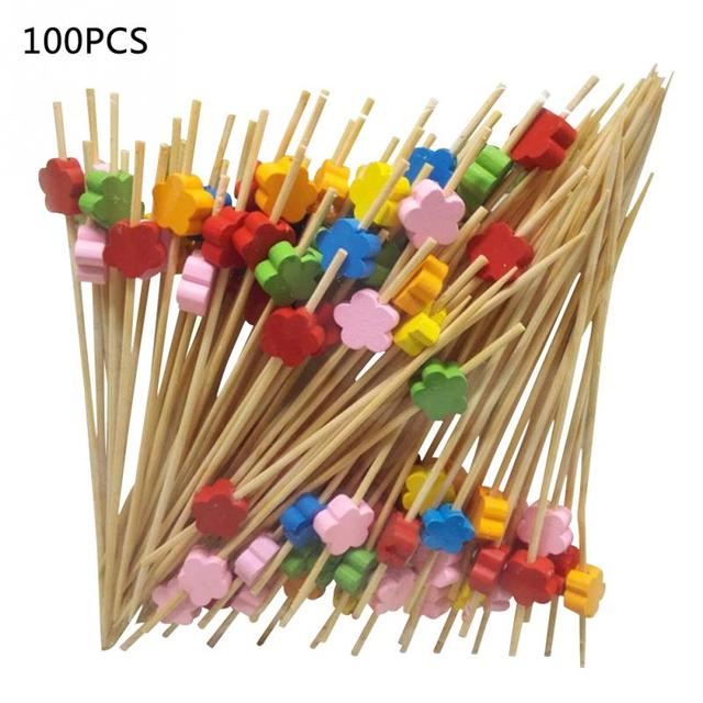 100Pcs/bag Fruit Toothpicks