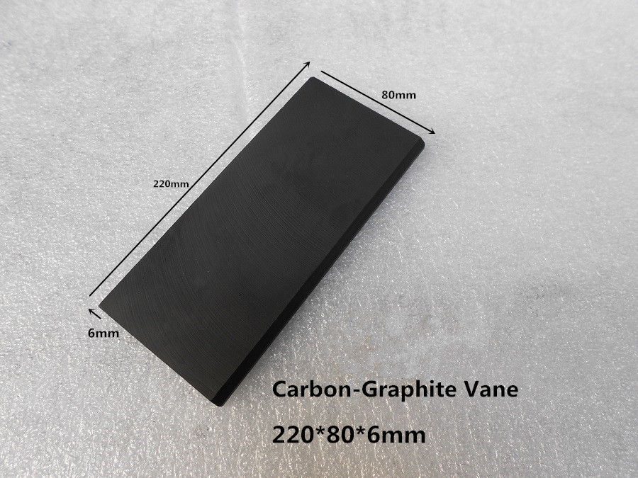 220x80x6 mm EK60 Carbon-Graphite Vane for Vacuum Pumps / carbon Vanes blade ,graphite sheet цена