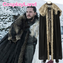 New Game of Thrones Season 8 Cosplay Jon Snow Costume Halloween Party Cloak Custom Made Leather Outfit
