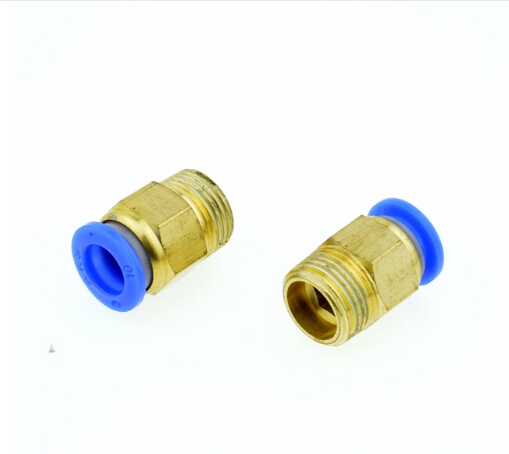 pc10-03 10mm OD Tube X 3/8BSPT male thread(OD:16.5mm) Pneumatic Straight Quick Coupling Brass Fittings free shipping repairing part 3 pin din plug led solenoid valve connector ac 220v