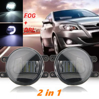 3.5 inch High Power LED Car Front Lamp Light Car Angel Eye Halo Ring Day Driving Light DRL Fog Lamp Lights 2 in 1 For Toyota