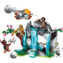 ENLIGHTEN Journey West Robbery Waterfall Rockery Combination Marvel Building Blocks Kits Toys Compatible Ninja lepin nexo knights axl jestros volcano lair combination marvel building blocks kits toys figures compatible nexus 181