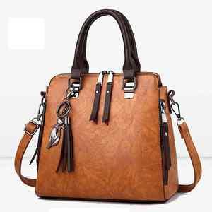 Image 2 - Sac à main en cuir PU pour femmes, sac de luxe à épaule de marque célèbre, sacoche à bandoulière de grande capacité, fourre tout décontracté LB753