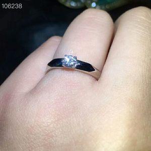 Image 3 - Meibapj 4mm brilho moissanite pedra preciosa clássico simples anel para mulher 925 prata esterlina jóias de casamento fino