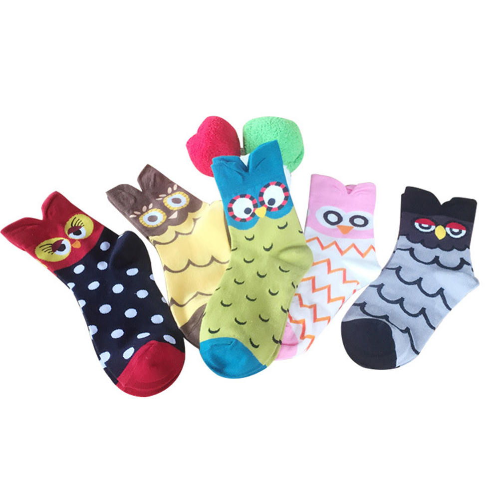 New Style Fashion Unique Women Girls Cartoon Lovely Cute Owl Cotton Warm Socks warm socks cosplay
