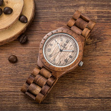 2019 Mens Wood Watch UWOOD Brand Antique Natural Handmade Fa