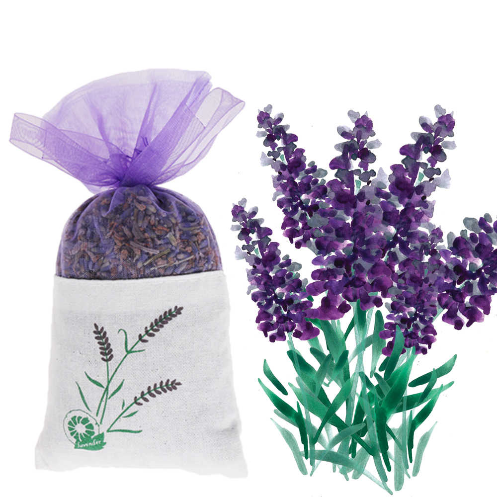 Air Fresheners Lavender Bud Dried Flower Sachet Bag Aromatherapy Aromatic Household  Wardrobe Car LavenderIndoor Deodorizing
