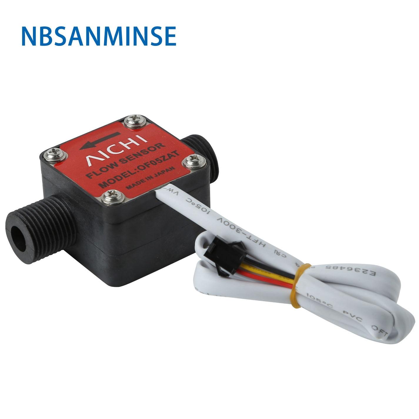 NBSANMINSE SMOF05ZAT Gear Flow Meter Oil Milk Honey Dishwashing Sensor Hall Flowmeter Square Cover