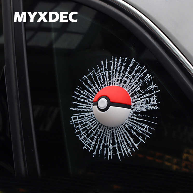 Janela Etiqueta Do Carro 3D Car Styling Aufkleber Pokemon Pocket Monsters Pegatinas Pokeball Para VW Etiqueta Do Carro de MINI Acessórios Do Carro