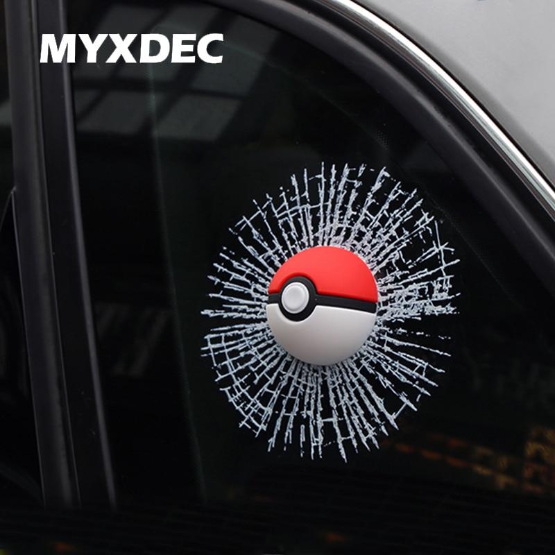 Pocket Monsters Car Window Sticker 3D Car Styling Aufkleber Pokemon Pegatinas Pokeball For VW Car Sticker MINI Car Accessories