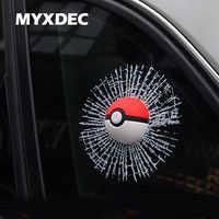 Taschen-monster Autofenster Aufkleber 3D Car Styling Aufkleber Pokemon Pegatinas Pokeball Für VW Auto Aufkleber MINI Auto Zubehör