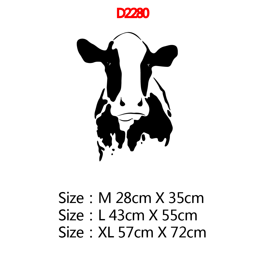 Creative Cow Wall Decal Home Decor For Kitchen Room Vinyl Mural Pvc Home Decoration Accessories Commercial Wall Sticker in Wall Stickers from Home Garden