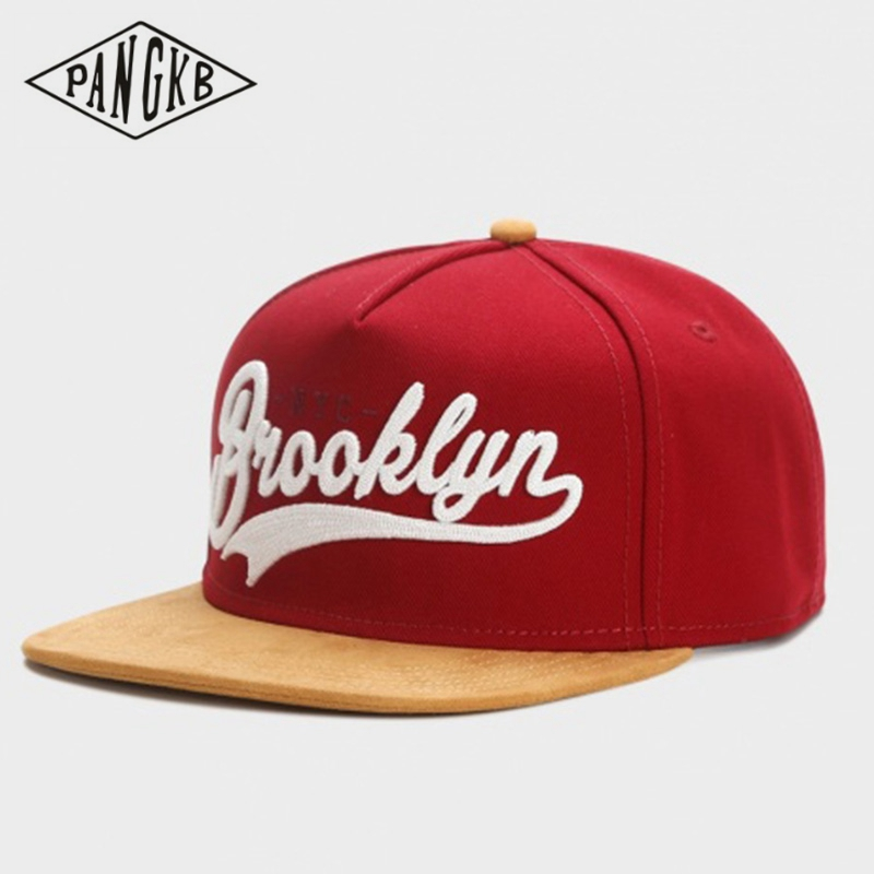 PANGKB Brand FASTBALL CAP BROOKLYN faux suede hip hop red snapback hat for men women adult outdoor casual sun baseball cap bone(China)