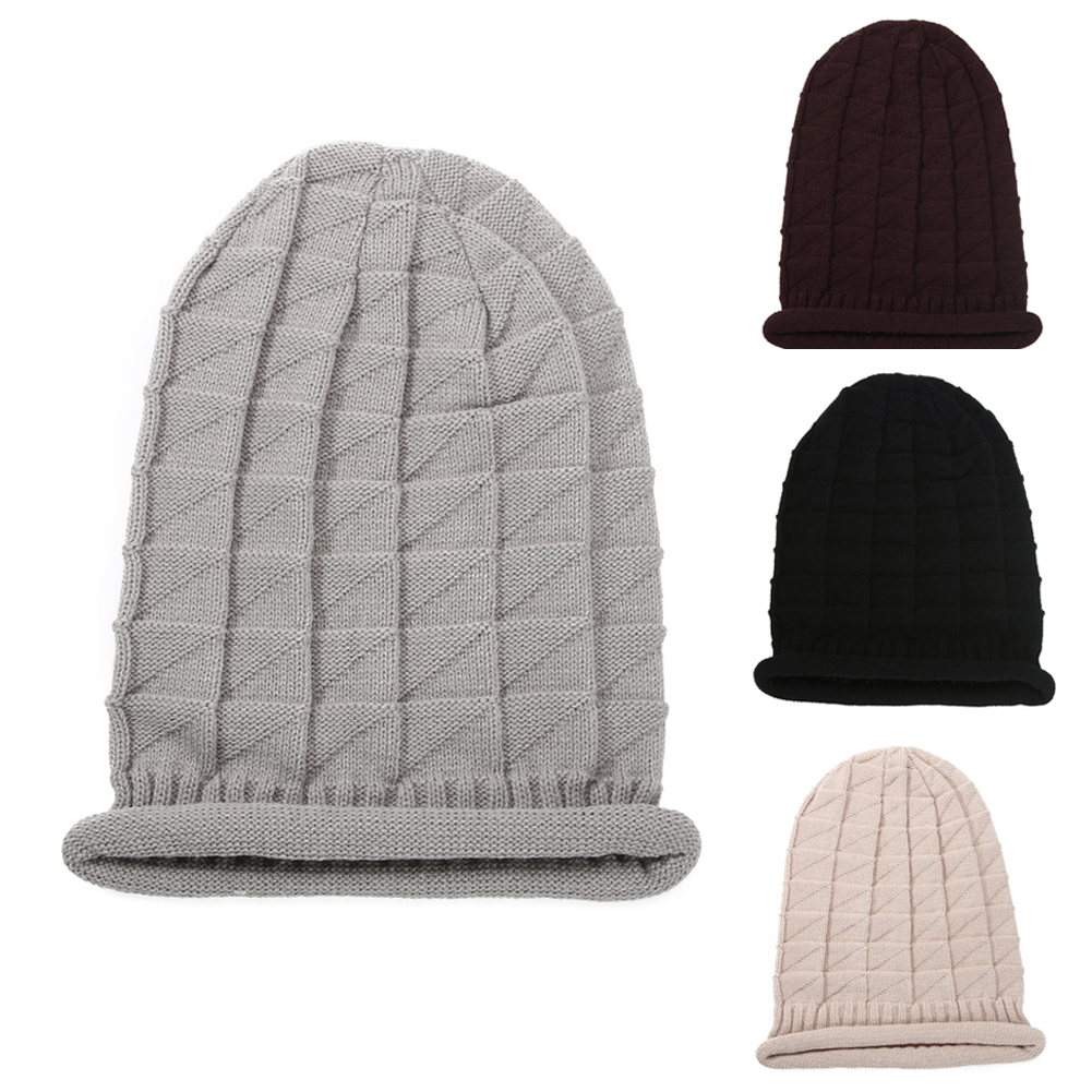hat beanie winter hats for women cap women Winter Baggy Beanie Knit Crochet Oversized Slouch Cap Snow Hat DM#6 winter casual cotton knit hats for women men baggy beanie hat crochet slouchy oversized cap warm skullies toucas gorros w1