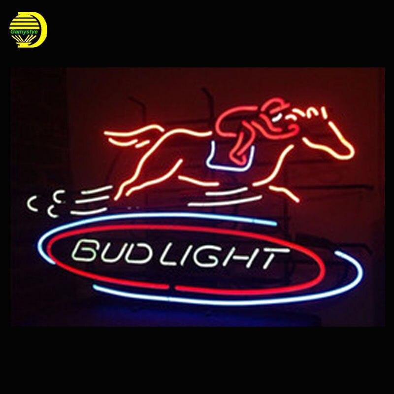 Neon Sign For Racing Bud Light Lamp neon Windows light custom ...