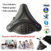 Free Shipping USB VOIP CONFERENCE LOUDSPEAKER INTERNET PHONE TELEPHONE FR PC LAPTOP IOS Win7 8