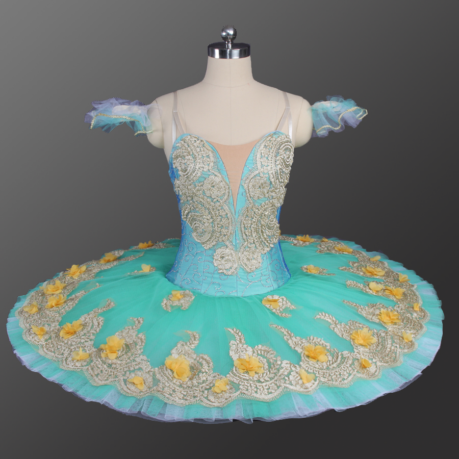 Women Ballet Tutu Yellow Green Sky Blue Red Color Ballerina Ballet Competition Costumes Tutus Child Performance Dance Skirt 9147