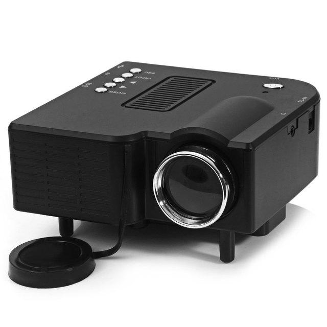 UC-40 HD 400 Lumens Início Mini LED Projetor LCD Projetor apoio SD AV VGA Cartão SD Zoom Eletrônico de Alimentação Do Veículo fornecer