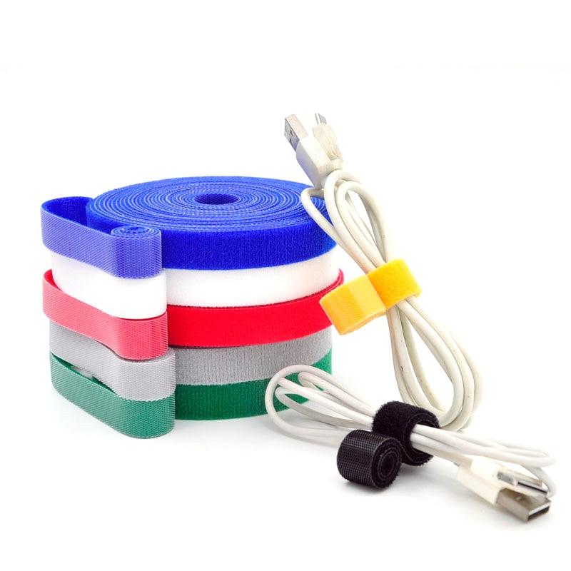 1//3//5m Cable Winder Wire Organizer Management Fastening Magic Tape Tie Straps