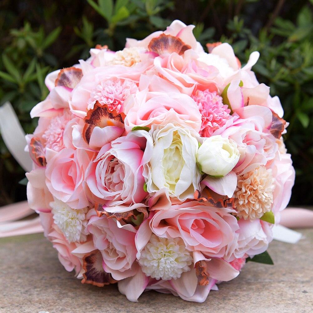 Kyunovia Silk Wedding Bouquet Wedding Flowers Keepsake Bouquet ...