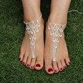 New Charme Mulheres Tornozeleira Strass Sexy Sandálias Descalças Tornozeleiras Jóias Pé Praia Nupcial Acessórios pés Descalços decorado