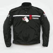 De malha de inverno moto jaquetas de Corrida de moto À Prova de Vento Jaquetas fit para Yamaha moto rcycle r Com 5 pcs Protetor Homens Jaqueta chaqueta Preto